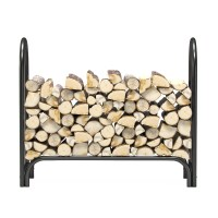 4 Foot Heavy Duty Firewood Log Rack Outdoor Firewood ...
