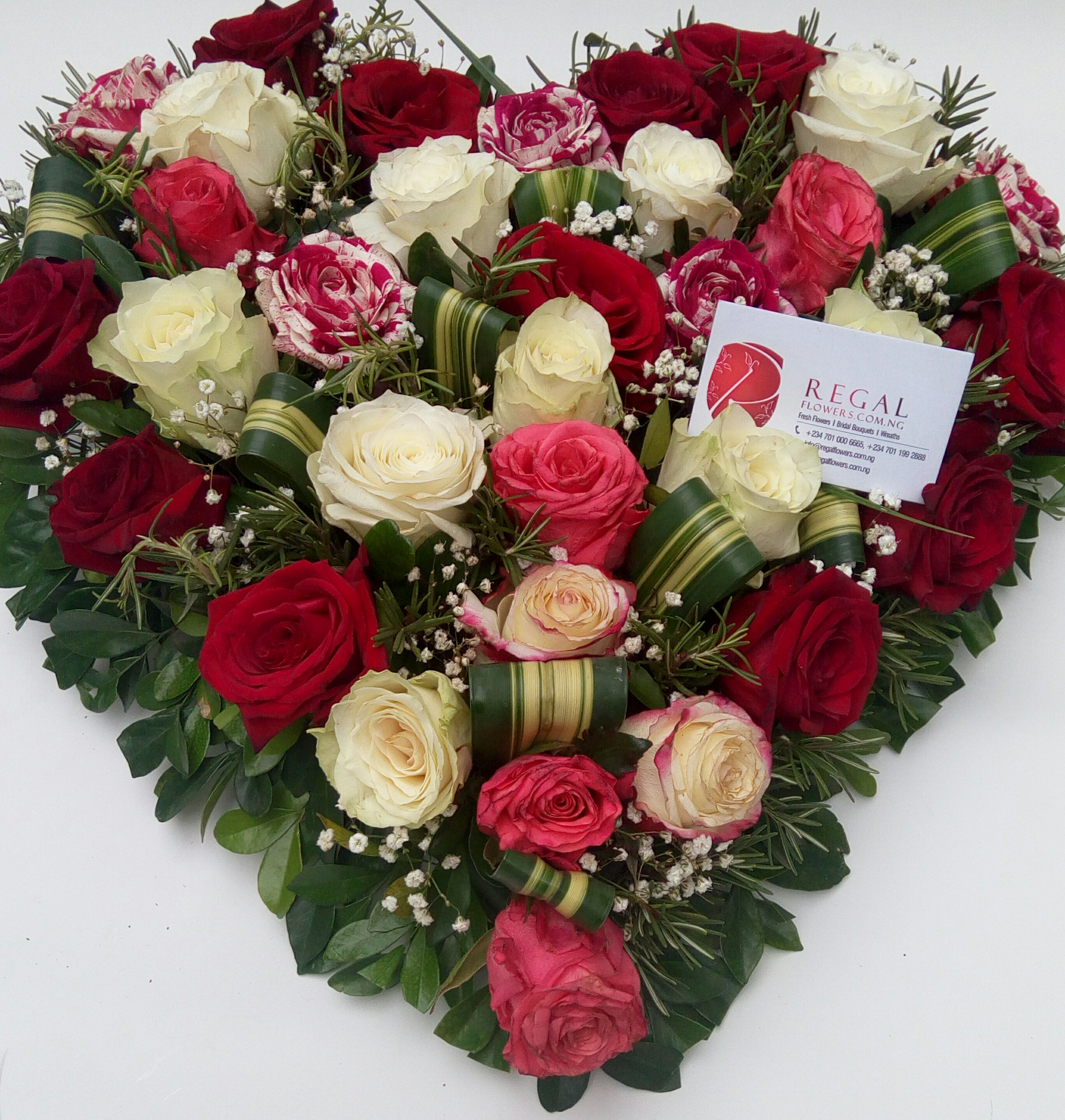 Sweetest Devotion - 3 or 4 Color mix of Roses (Red, White, Fuschia ...