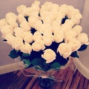 Bouquet of fresh cut white Roses regal flowers
