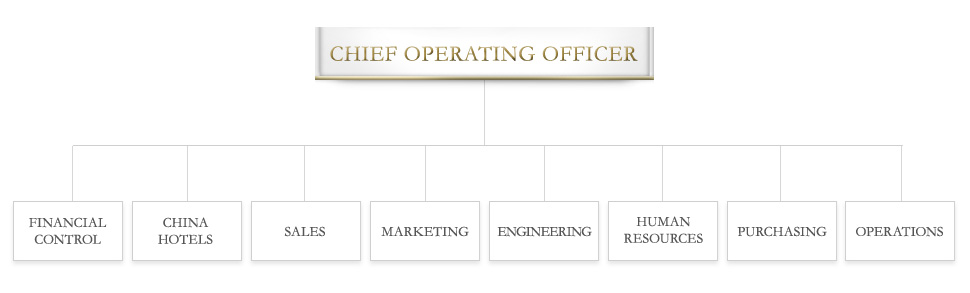 Organisational Chart  China Hotel Group  Hotel Management Company  Regal Hotels International