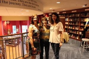 Lisa Poole, the owner, René Martin, the events coordinator, and Sarah Goddin, the general manager of Quail Ridge Books