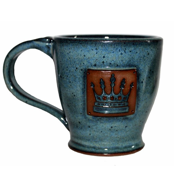 Azure-glazed Regal House coffee mug