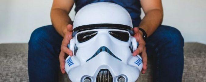 maschera star wars ragazzo geek