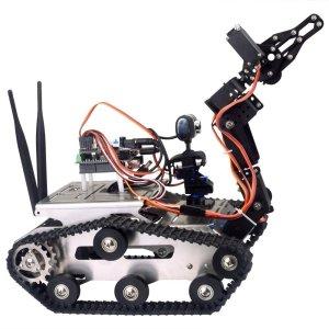 robot da costruire con braccio e telecamera