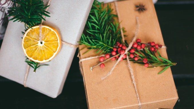 regali con incarto ecologico