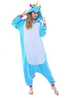 pigiama unicorni blu chiaro