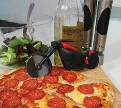 rotella per tagliare la pizza a forma di motocicletta