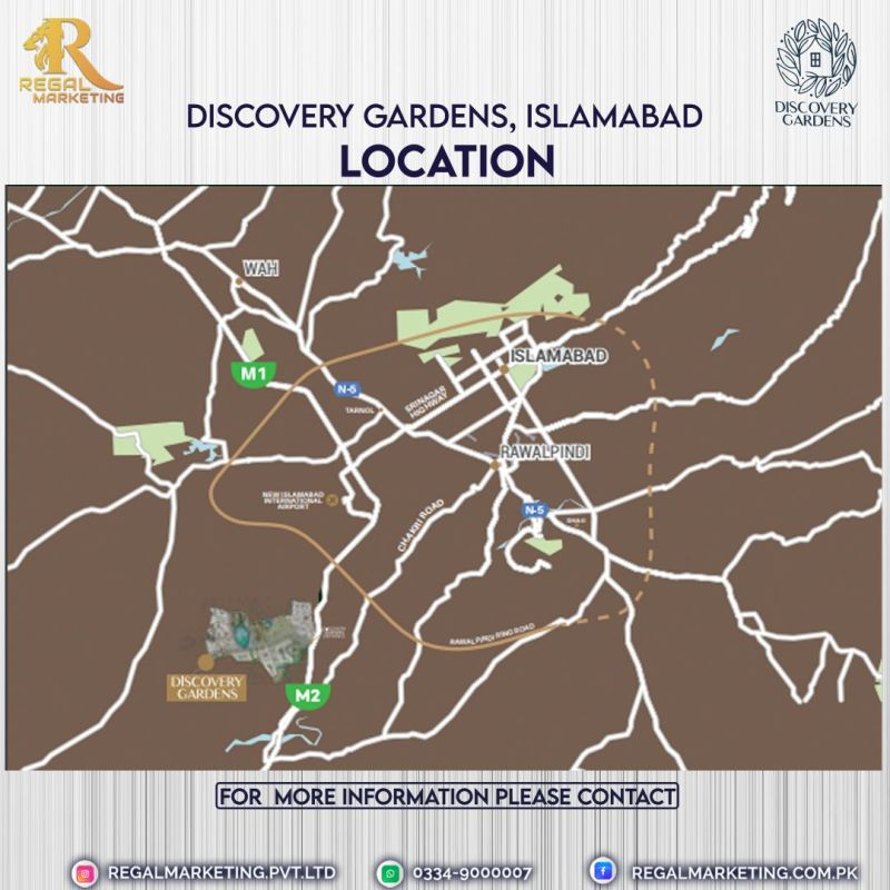 discovery garden location map