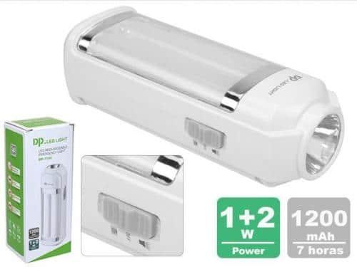 Linterna LED Emergencia Recargable