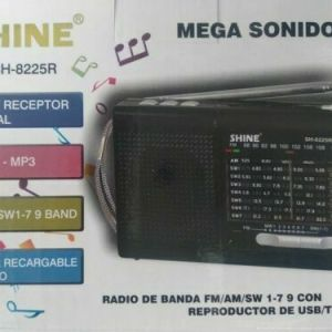 Radio con bateria recargable banda FM/AM reproductor mp3 usb/TF tarjeta linterna