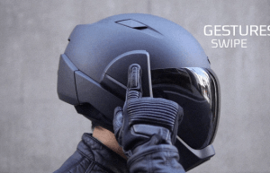 head up display casco moto crosshelmet x1
