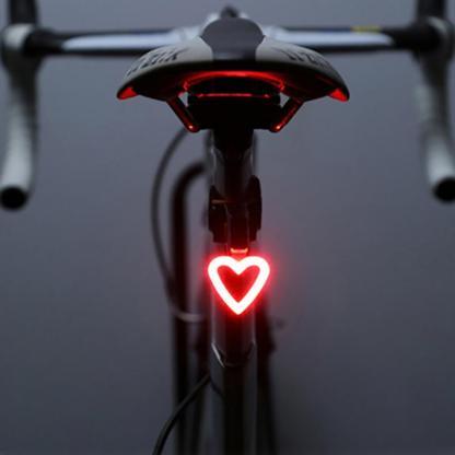 luz trasera para bicicleta en forma de corazon