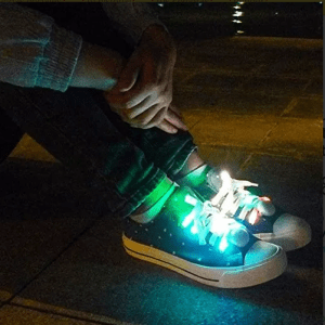 cordones con luces led