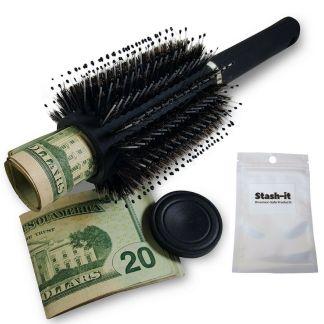 caja de seguridad en forma de cepillo o peine para el cabello