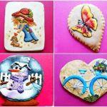 Galletas decoradas con dibujos a mano alzada