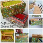Cómo decorar cajitas de madera DIY con papel