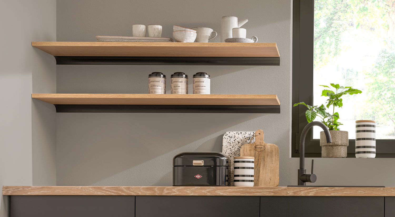Kitchen Shelves Great Selection Of Kitchen Wall Shelves Regalraum