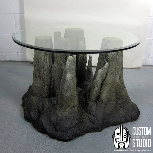 Stalagtable - Hand Faux Rock Coffee Table Side