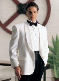 White Dinner Jacket by Jean Yves
