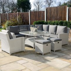 Metal Garden Sofa Sets Diy Table From Pallets Kensington Deluxe Henley Curved Corner Unit With 2 Dining