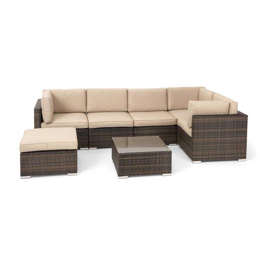 6pc outdoor patio garden wicker furniture rattan sofa set sectional grey cheap corner sofas hull sets