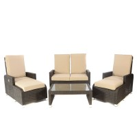 Kensington Club Brown HB 6 Piece reclining sofa set ...