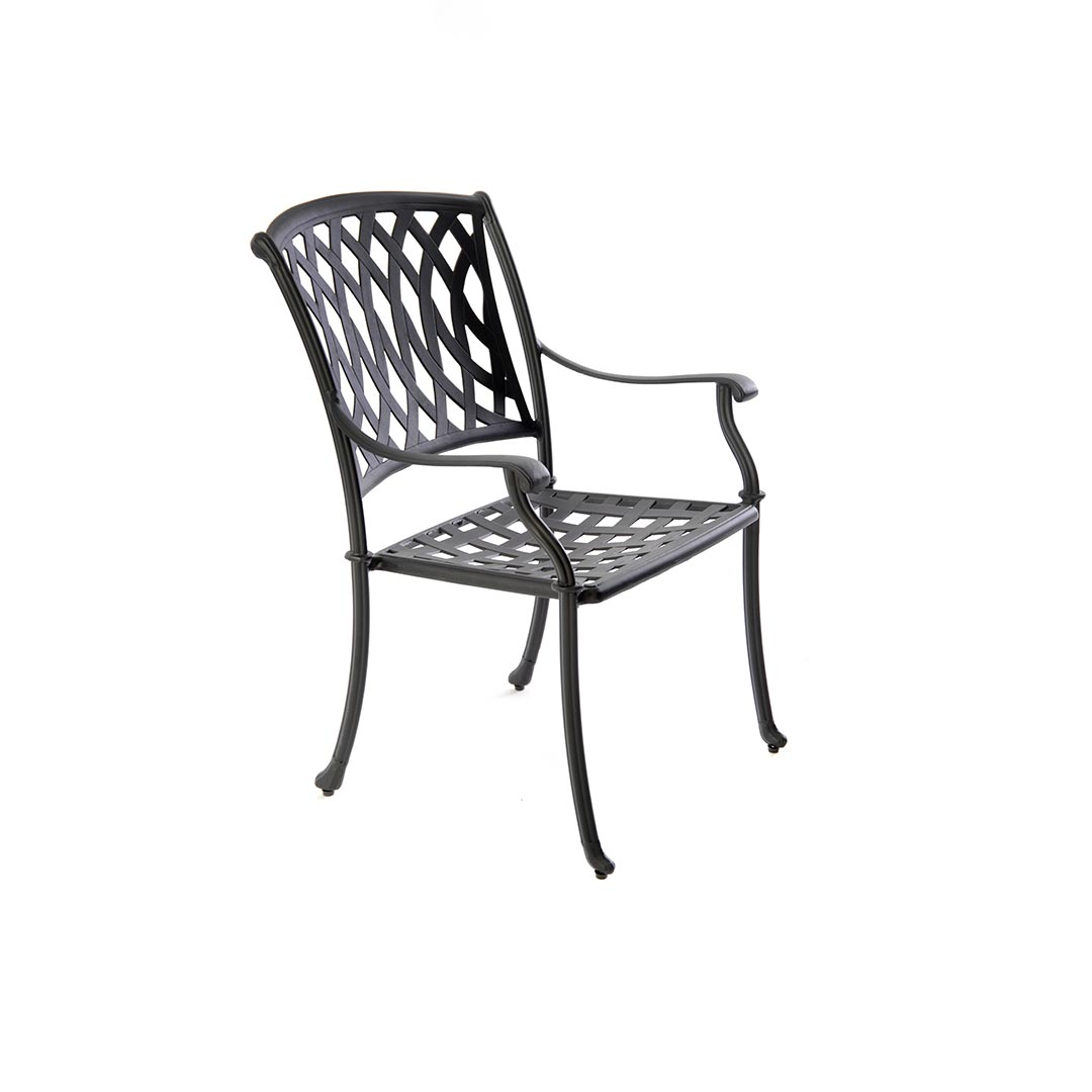 black metal patio chairs child lounge chair boat shaped table set with 6 venetian