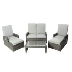 Grey Reclining Sofa Set Sofas And Sectionals Com Reviews Kensington Club Hb 6 Piece