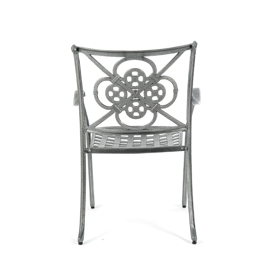 Cast Aluminium Gothic Bistro Table 28 Inch With 2 Gothic
