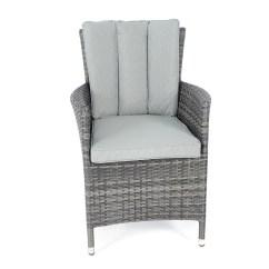 Grey Weave Garden Chairs Wheelchair Brakes Kensington Club Flat Rattan Chair Mixed