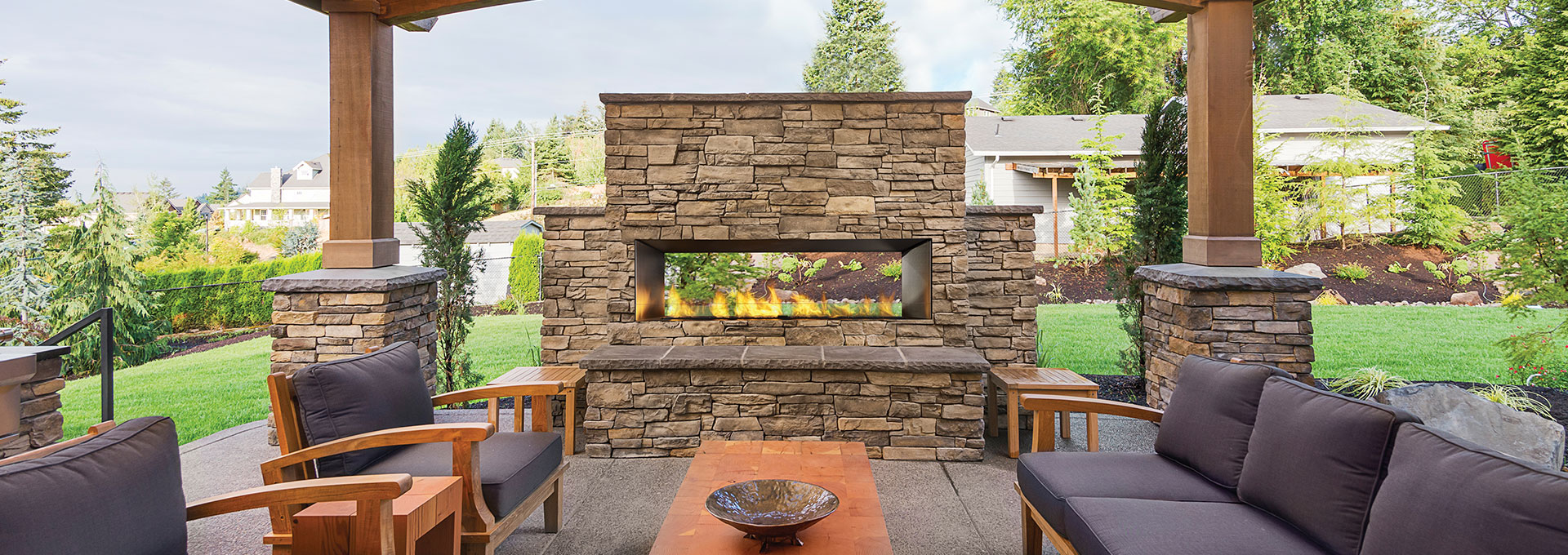 outdoor gas fireplace canada