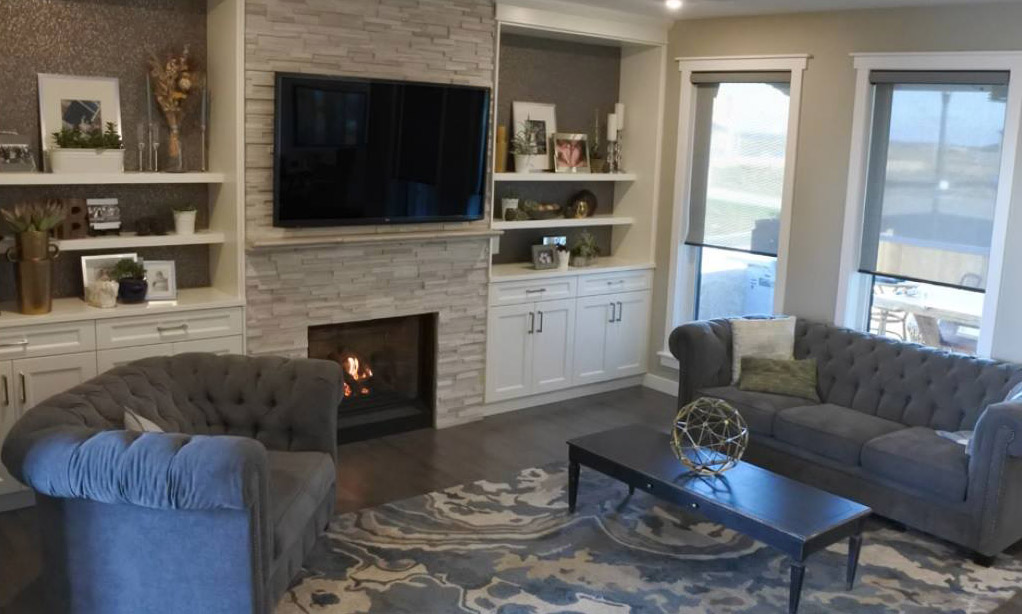 design living room with fireplace and tv false ceiling designs for images ideas photo gallery mantels surrounds bellavista b36xtce gas stone facing custom cabinets