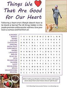 Heart Smart Wordfind