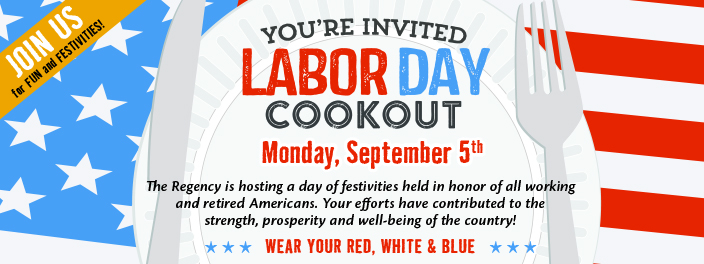 labor day cookout regency memory care