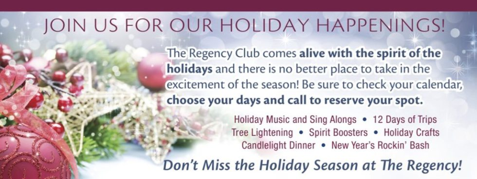 Regency Memory Care Holiday Events