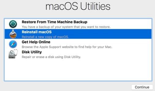 Reinstall Mac OS