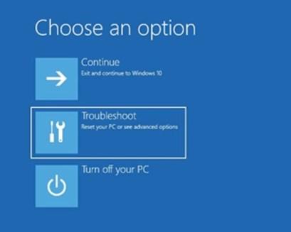 Troubleshooter Windows 10