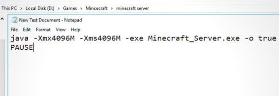 How to Allocate More RAM to a Minecraft Server without Launcher