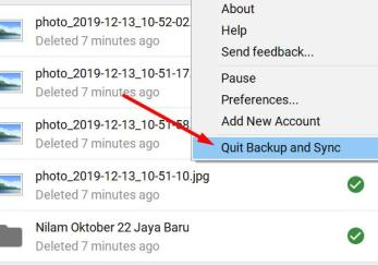 Restart Google Drive Sync on Windows 10