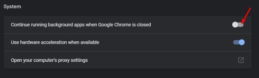 Stop Chrome continue running background apps when Google Chrome is closed