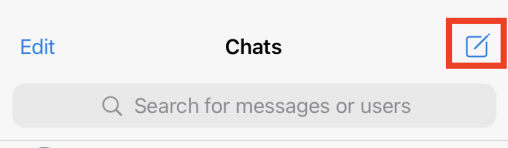 Tap on Chats in the top-right corner