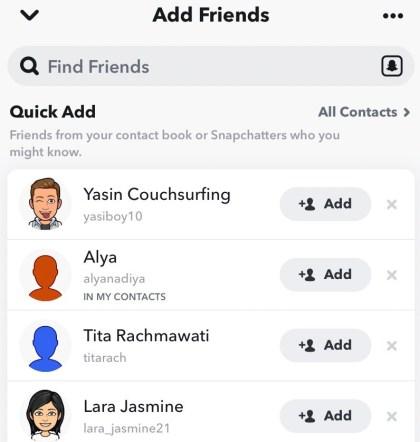 Go to Add Friends