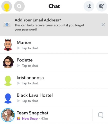 find if the person you suspect appears in the chat list