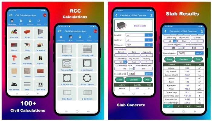 Civil Calculation App