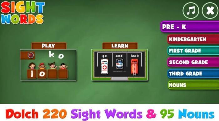 Sight Words Pre-K to Grade 3