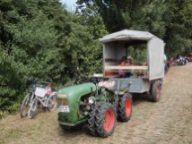 Lots of tractors in the area are narrow to get between vineyard rows.