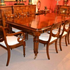10 Chair Dining Table Set Low Patio Chairs English Regency And Drape