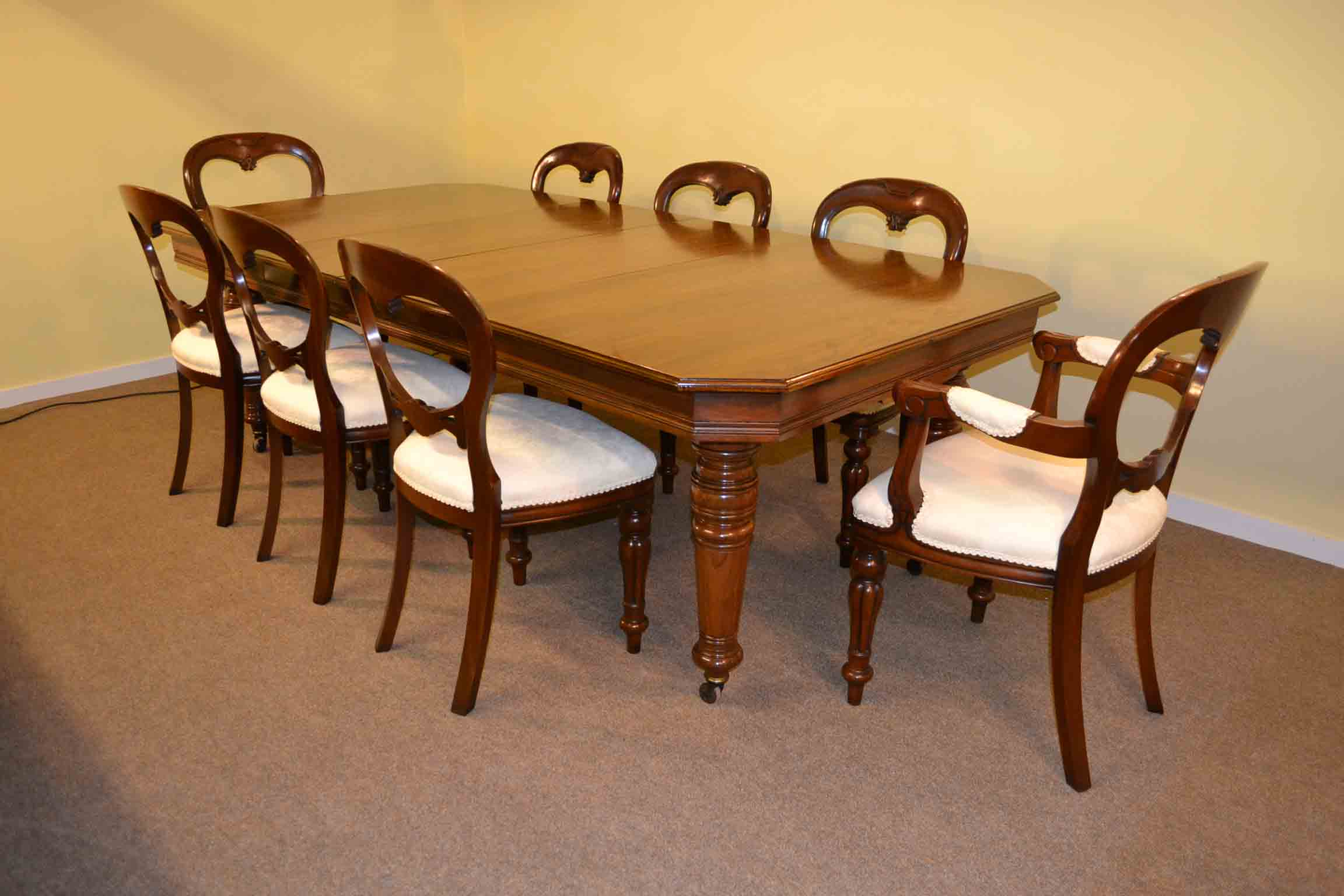 8 chair dining table set wayfair club chairs antique victorian walnut ft and
