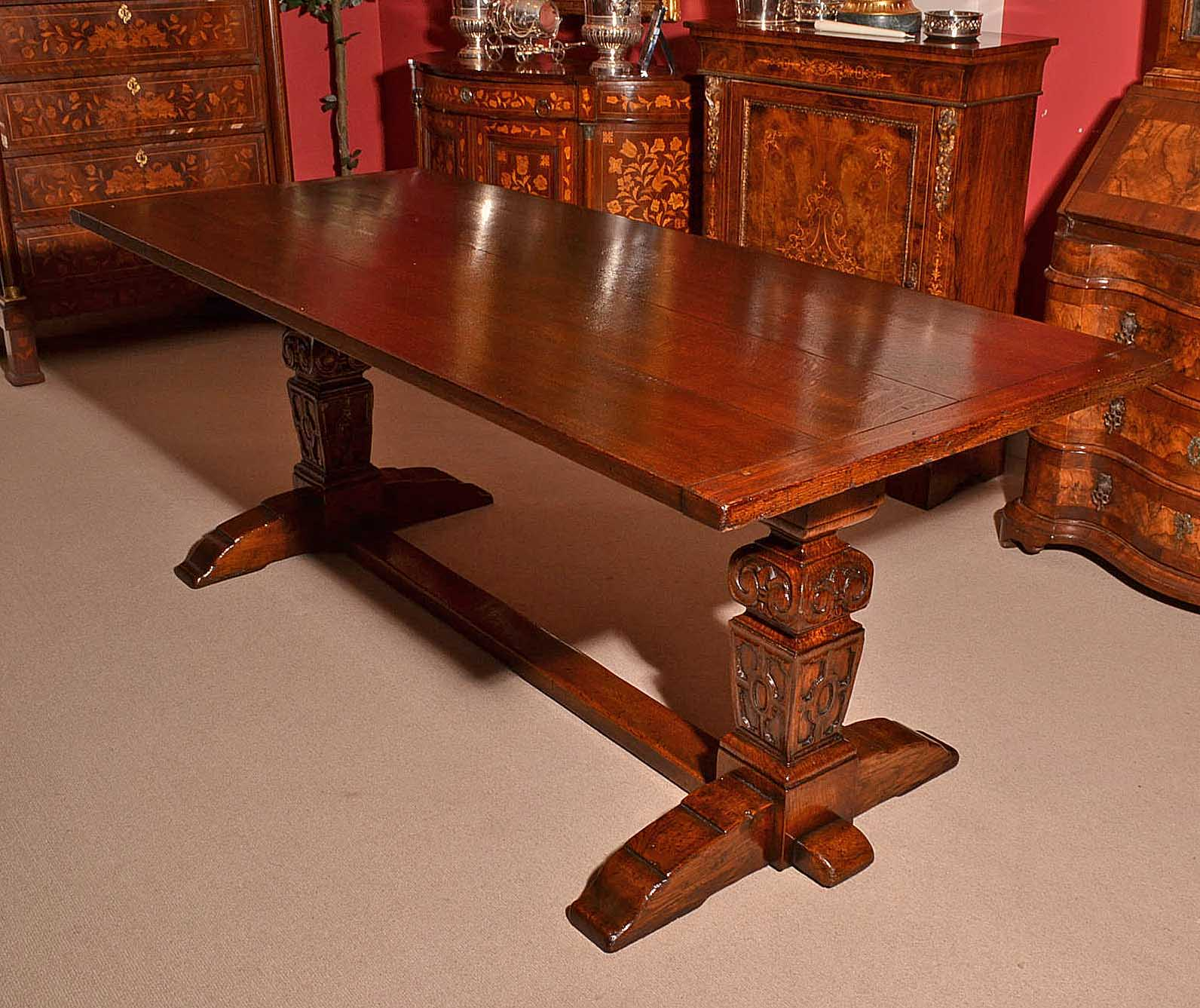 solid oak dining table and chairs pb comfort chair regent antiques tables