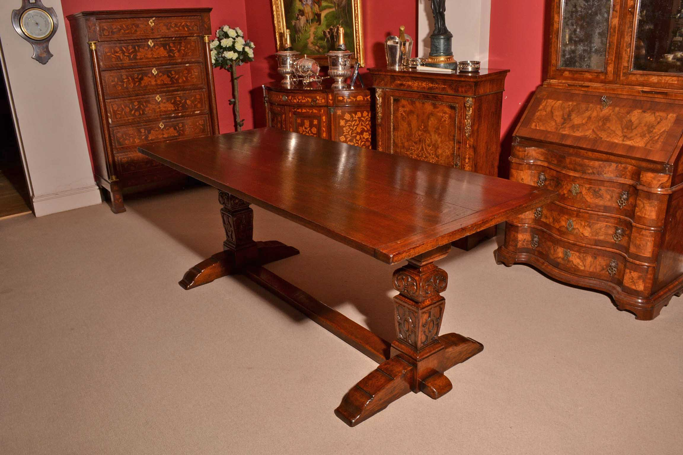 solid oak dining table and chairs chair cover rental paterson nj regent antiques tables